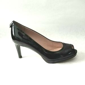 Stuart Weitzman patent leather heels open toe 7.5